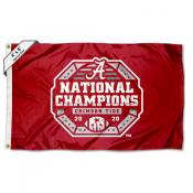 Alabama Crimson Tide 2020 College National Champions Large 4x6 Flag