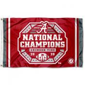 Alabama Crimson Tide 2020 Official Football National Champions Logo Flag