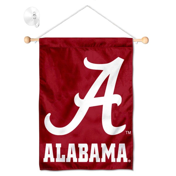 Alabama Crimson Tide Banner with Suction Cup