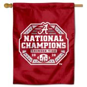 Alabama Crimson Tide CFP National Champions Double Sided House Flag