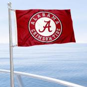 Alabama Crimson Tide Circle Boat Flag