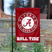 Alabama Crimson Tide Circle Logo Garden Flag
