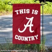 Alabama Crimson Tide Country Garden Flag
