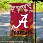 Alabama Crimson Tide Fall Football Autumn Leaves Decorative Garden Flag