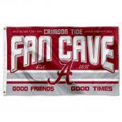 Alabama Crimson Tide Fan Man Cave Game Room Banner Flag