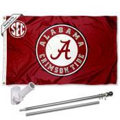 Alabama Crimson Tide Flag Pole and Bracket Kit