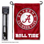Alabama Crimson Tide Garden Flag and Stand