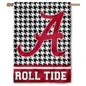 Alabama Crimson Tide Houndstooth Double Sided House Flag