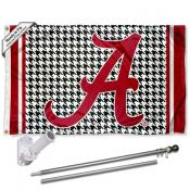 Alabama Crimson Tide Houndstooth Flag Pole and Bracket Kit