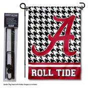 Alabama Crimson Tide Houndstooth Garden Flag and Flagpole