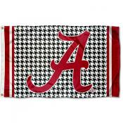 Alabama Crimson Tide Houndstooth Logo Flag