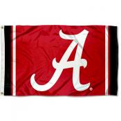 Alabama Crimson Tide Jersey Stripes Flag