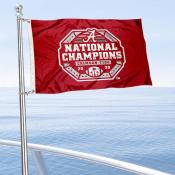 Alabama Crimson Tide National Champions Boat and Mini Flag