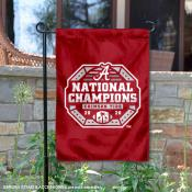 Alabama Crimson Tide National Champs Official Logo Double Sided Garden Flag