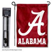 Alabama Crimson Tide Script A Garden Flag and Stand
