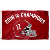 Alabama Crimson Tide SEC 2018 Football Champions Flag