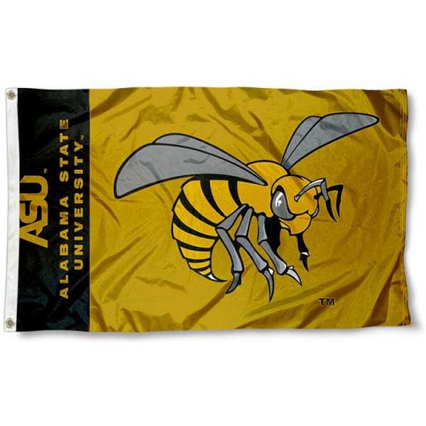 Alabama State Hornets 3x5 Flag measures 3'x5', is made of 100% poly, has quadruple stitched sewing, two metal grommets, and has double sided Team University logos. Our Alabama State Hornets 3x5 Flag is officially licensed by the selected university and the NCAA.