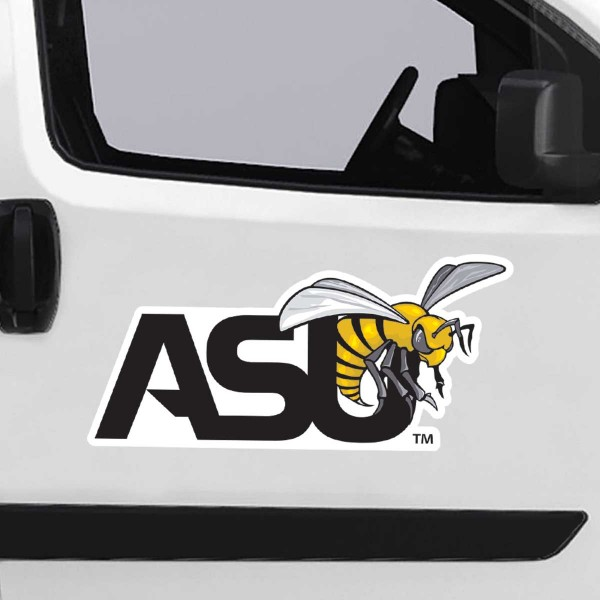 Alabama State Hornets Large Magnet is ideal for inside or outside uses, car and auto door panels, and a great gift idea. Each magnet is a large 16x16 inches, is made of flexible 20 mil magnetic vinyl and has screen printed school logos and team names and slogans.