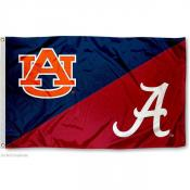 Alabama vs. Auburn House Divided 3x5 Flag