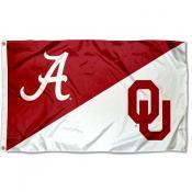 Alabama vs Oklahoma House Divided 3x5 Flag
