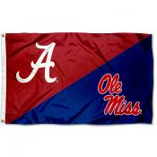 Alabama vs Ole Miss House Divided 3x5 Flag