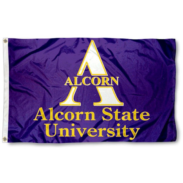 This Alcorn State Braves Flag measures 3'x5', is made of 100% nylon, has quad-stitched sewn flyends, and has two-sided Alcorn State University printed logos. Our Alcorn State Braves Flag is officially licensed and all flags for Alcorn State Braves are approved by the NCAA and Same Day UPS Express Shipping is available.