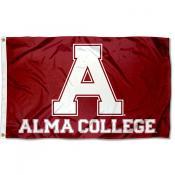 Alma College Scots A Logo Flag