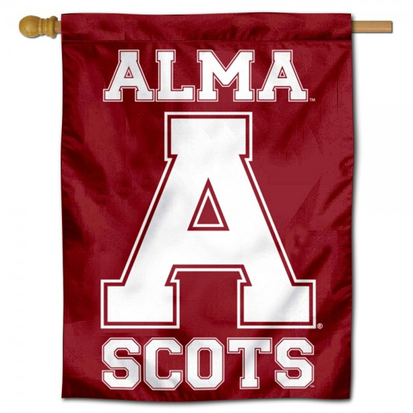 Alma College Scots Double Sided House Flag is a vertical house flag which measures 30x40 inches, is made of 2 ply 100% polyester, offers screen printed NCAA team insignias, and has a top pole sleeve to hang vertically. Our Alma College Scots Double Sided House Flag is officially licensed by the selected university and the NCAA.