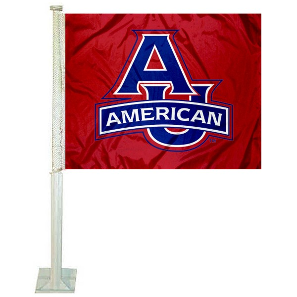 American Eagles Logo Car Flag measures 12x15 inches, is constructed of sturdy 2 ply polyester, and has screen printed school logos which are readable and viewable correctly on both sides. American Eagles Logo Car Flag is officially licensed by the NCAA and selected university.