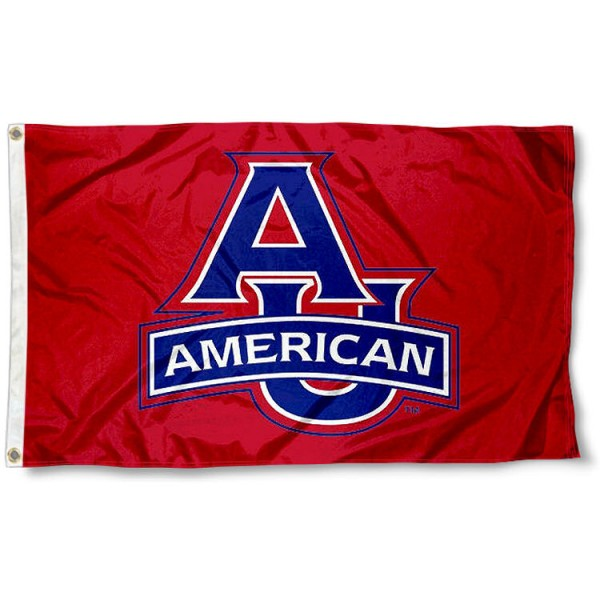 American Eagles Red Flag measures 3'x5', is made of 100% poly, has quadruple stitched sewing, two metal grommets, and has double sided Team University logos. Our AU Eagles 3x5 Flag is officially licensed by the selected university and the NCAA.