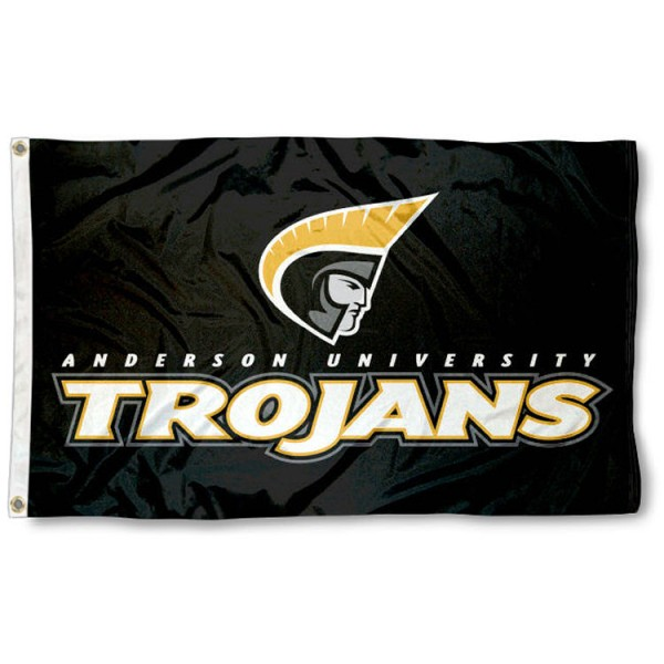 Anderson Trojans Flag is made of 100% nylon, offers quad stitched flyends, measures 3x5 feet, has two metal grommets, and is viewable from both side with the opposite side being a reverse image. Our Anderson Trojans Flag is officially licensed by the selected college and NCAA