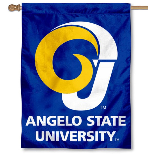 Angelo State Rams House Flag is a vertical house flag which measures 30x40 inches, is made of 2 ply 100% polyester, offers dye sublimated NCAA team insignias, and has a top pole sleeve to hang vertically. Our Angelo State Rams House Flag is officially licensed by the selected university and the NCAA