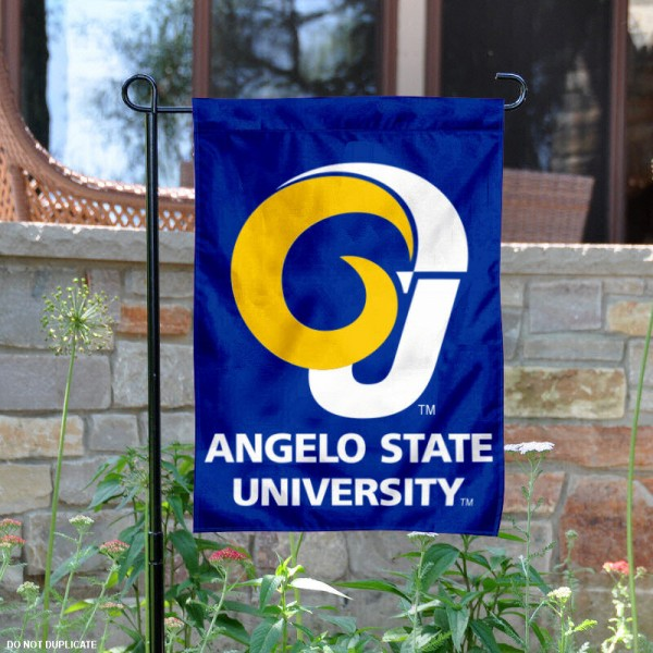 Angelo State University Garden Flag is 13x18 inches in size, is made of 2-layer polyester, screen printed Angelo State University athletic logos and lettering. Available with Same Day Express Shipping, Our Angelo State University Garden Flag is officially licensed and approved by Angelo State University and the NCAA.