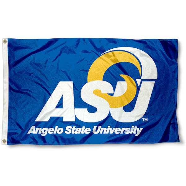 Angelo State University Rams Flag measures 3'x5', is made of 100% poly, has quadruple stitched sewing, two metal grommets, and has double sided Team University logos. Our Angelo State University Rams Flag is officially licensed by the selected university and the NCAA.