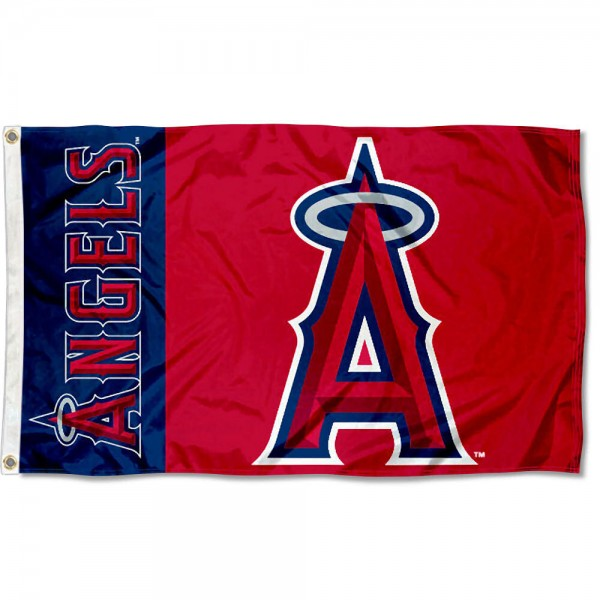 The Angels Outdoor Flag is four-stitched bordered, double sided, made of poly, 3'x5', and has two grommets. These Los Angeles Angels Outdoor Flags are MLB Genuine Merchandise.