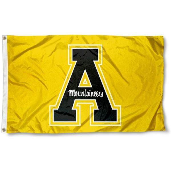 App State Gold Flag measures 3x5 feet, is made of 100% polyester, offers quadruple stitched flyends, has two metal grommets, and offers screen printed NCAA team logos and insignias. Our App State Gold Flag is officially licensed by the selected university and NCAA.