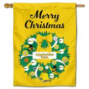 App State Mountaineers Happy Holidays Banner Flag