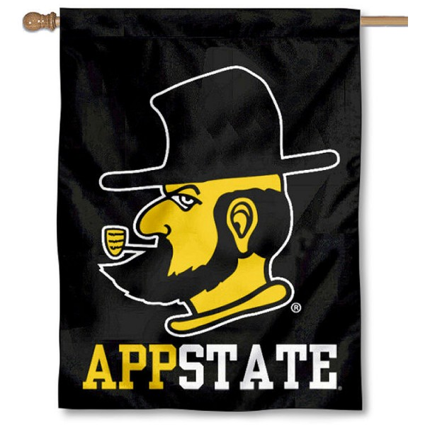 App State Mountaineers Yosef House Flag is a vertical house flag which measures 30x40 inches, is made of 2 ply 100% polyester, offers screen printed NCAA team insignias, and has a top pole sleeve to hang vertically. Our App State Mountaineers Yosef House Flag is officially licensed by the selected university and the NCAA.