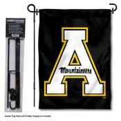 Appalachian State Mountaineers Black Garden Flag and Pole Stand Mount