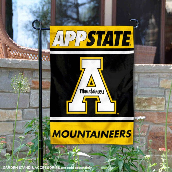 Appalachian State Mountaineers Garden Flag is 13x18 inches in size, is made of 2-layer polyester, screen printed logos and lettering. Available with Same Day Express Shipping, Our Appalachian State Mountaineers Garden Flag is officially licensed and approved by the NCAA.