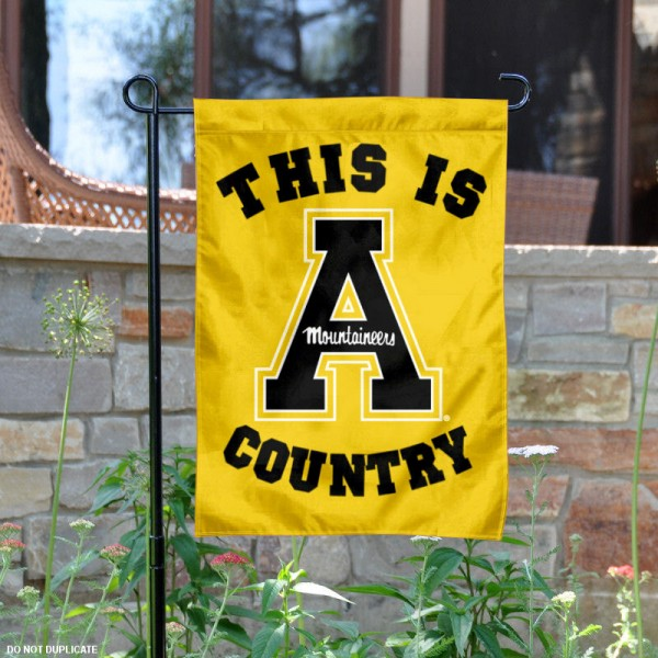 Appalachian State University Country Garden Flag is 13x18 inches in size, is made of 2-layer polyester, screen printed university athletic logos and lettering, and is readable and viewable correctly on both sides. Available same day shipping, our Appalachian State University Country Garden Flag is officially licensed and approved by the university and the NCAA.