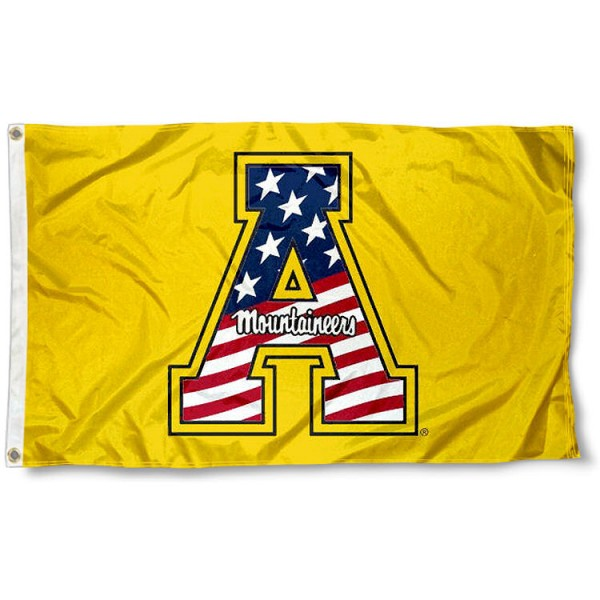 Appalachian State University Flag measures 3'x5', is made of 100% poly, has quadruple stitched sewing, two metal grommets, and has double sided App State logos. Our Appalachian State University Flag is officially licensed by the selected university and the NCAA.
