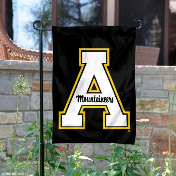Our Appalachian State University Garden Flag is 13x18 inches in size, is constructed of 2 sided polyester, and has screen printed University insignias and lettering. The Appalachian State University Garden Flag is licensed by the selected university and garden flags are perfect for your garden, entranceway, mailbox, or window.
