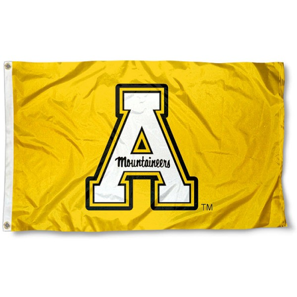 Appalachian State University Polyester Flag measures 3'x5', is made of 100% poly, has quadruple stitched sewing, two metal grommets, and has double sided Appalachian State University logos. Our Appalachian State University Polyester Flag is officially licensed by the selected university and the NCAA