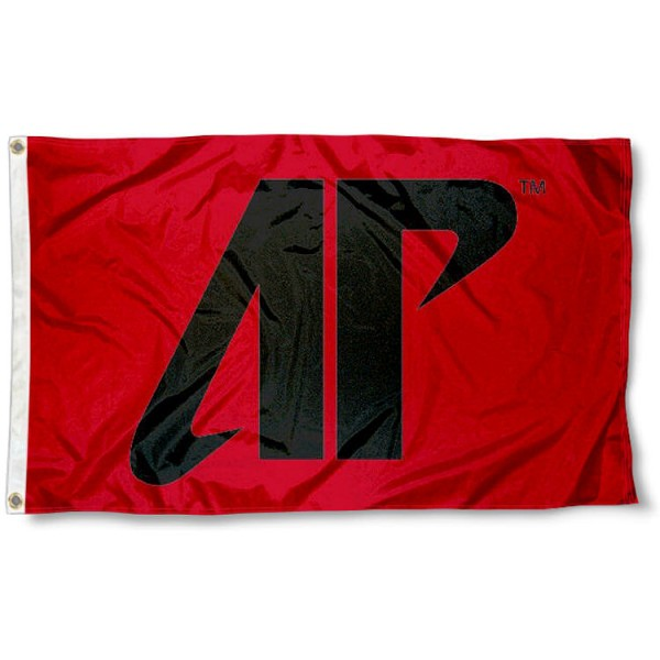 APSU Governors AP Logo Flag measures 3'x5', is made of 100% poly, has quadruple stitched sewing, two metal grommets, and has double sided Team University logos. Our APSU Governors 3x5 Flag is officially licensed by the selected university and the NCAA.
