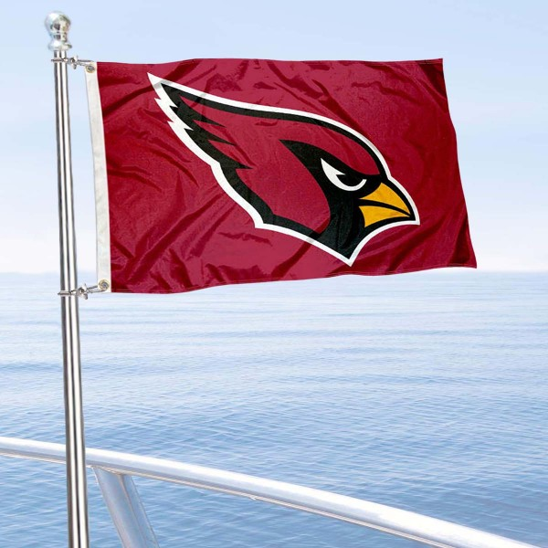 "Our Arizona Cardinals Boat and Nautical Flag is 12""x18"", made of three-ply poly, has a solid header with two metal grommets, and is double sided. This Boat and Nautical Flag for Arizona Cardinals is Officially Licensed by the NFL and can also be used as a motorcycle flag, boat flag, golf cart flag, or recreational flag."