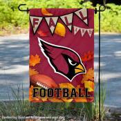 Arizona Cardinals Fall Football Leaves Decorative Double Sided Garden Flag
