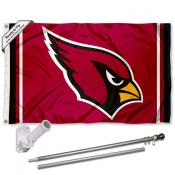Arizona Cardinals Flag Pole and Bracket Kit