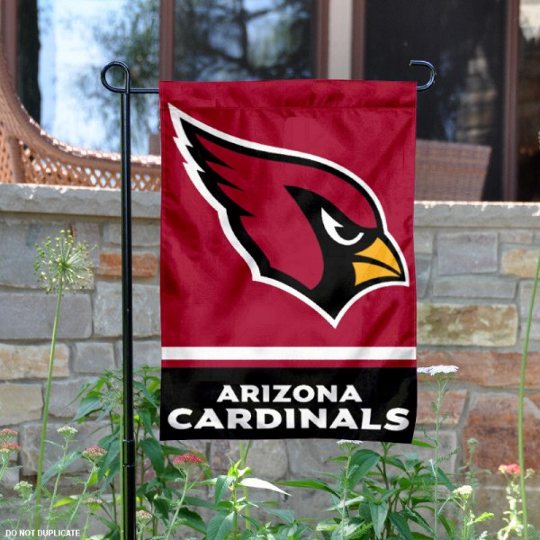 Arizona Cardinals Garden Flag is 12.5x18 inches in size, is made of 2-ply polyester, and has two sided screen printed logos and lettering. Available with Express Next Day Ship, our Arizona Cardinals Garden Flag is NFL Officially Licensed and is double sided.