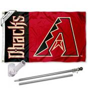 Arizona Diamondbacks Flag Pole and Bracket Kit